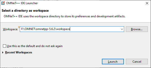 Select a directory as a workspace (new workspace)