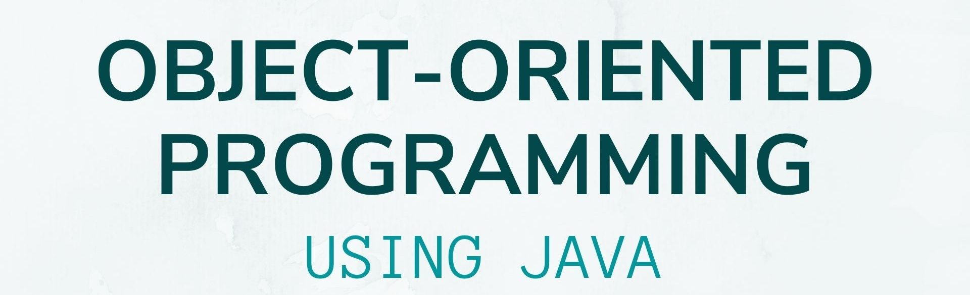 Object-Oriented Programming Using Java (Video)